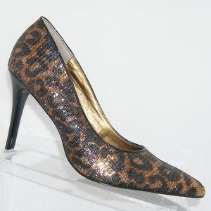 Nine West Act leopard print pointed heels 6.5M